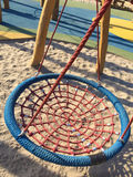Set of net crawl constructions on kids playground Stock Photos