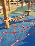 Set of net crawl constructions on kids playground Stock Images