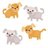 Set nette Hunde Lizenzfreies Stockbild