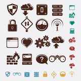 Set of network icons Royalty Free Stock Photos