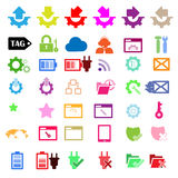Set of network icons Stock Photography