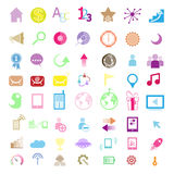 Set of network icons Royalty Free Stock Images