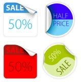 Set neue zwei Farbenverkaufskennsätze Lizenzfreie Stockfotos