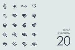 Set of neurology icons Royalty Free Stock Images
