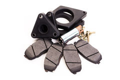 Set of new automobile brake pads Stock Photo