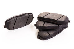 Set of new automobile brake pads Royalty Free Stock Images