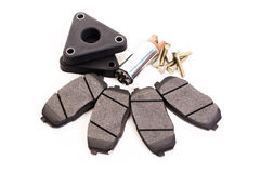 Set of new automobile brake pads Stock Photos