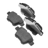 Set of new brake pads Stock Images