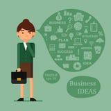 Set for new business presentation Stock Image