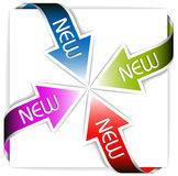 Set of new colorful corner ribbons - arrows Stock Photos