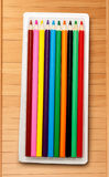 Set of new colourful pencils Royalty Free Stock Image