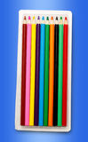 Set of new colourful pencils Stock Photo
