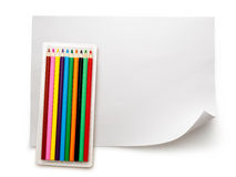 Set of new colourful pencils Stock Photos