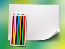 Set of new colourful pencils Stock Images