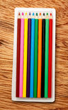 Set of new colourful pencils Stock Image