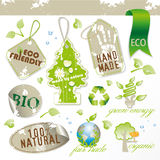 Set of new ecological elements Royalty Free Stock Image