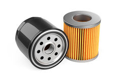 A set of new oil filters. Automobile spare part. Stock Photography
