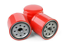 A set of new oil filters. Automobile spare part. Stock Image