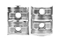 Set of new piston spare part Royalty Free Stock Photos