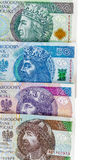 Set of new polish banknotes Royalty Free Stock Photo