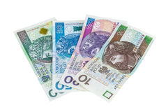 Set of new polish banknotes Royalty Free Stock Images