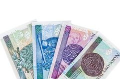 Set of new polish banknotes Royalty Free Stock Photography