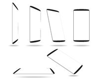 Set new smartphones different angles views isolated on white  Stock Images