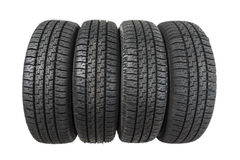 Set of new tires Royalty Free Stock Image