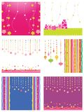 Set of new year card Royalty Free Stock Photos