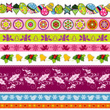 Set of New Year and Christmas borders Royalty Free Stock Photo