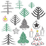Set for new year and christmas Royalty Free Stock Photo
