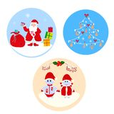 Set of New Year cards royalty free illustration
