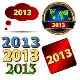 Set of New Year icons Royalty Free Stock Images