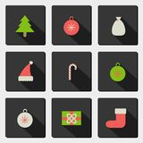 Set with new year icons Royalty Free Stock Image