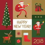 Set of New Year items Royalty Free Stock Photos