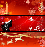 Set of New Year's backgrounds Royalty Free Stock Images