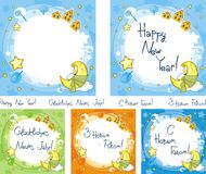 Set of New Year's backgrounds Stock Photos