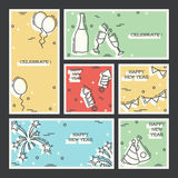 Set of New Year`s Eve backgrounds Stock Photos
