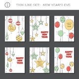 Set of New Year`s Eve backgrounds Royalty Free Stock Image