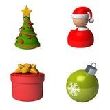 A set of new year symbols stock image