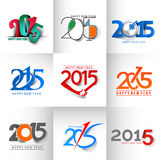 Set of New Year 2015 Royalty Free Stock Image