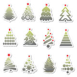 Set of new year tree Royalty Free Stock Image