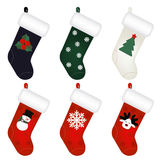 Set Of New Years Socks. Vector Stock Photo