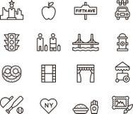 Set of New York icons Stock Image
