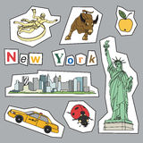Set of New York icons Stock Photo