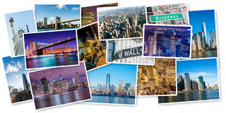The set of new york photos arranged in frame Stock Photo