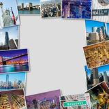 The set of new york photos arranged in frame Stock Photography