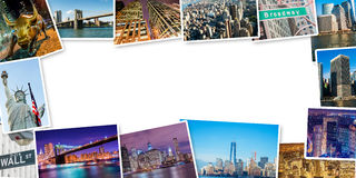 The set of new york photos arranged in frame Stock Image