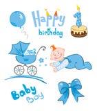 Set of newborn. Vector illustration -- set of newborn (for boys royalty free illustration
