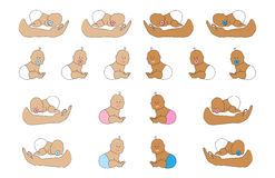 Newborn baby set 1 Royalty Free Stock Images